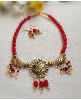 Embroidery Necklace Gohona Set-N014