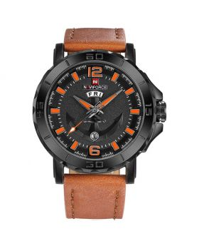 Naviforce NF9110 Men's Watch. Black& Brown Color