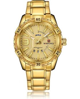 NaviForce NF9117S Date/Day Function Analog Watch - Royal Gold