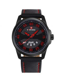 Naviforce NF9124 BLACK  QUARTZ WATCH FOR MEN