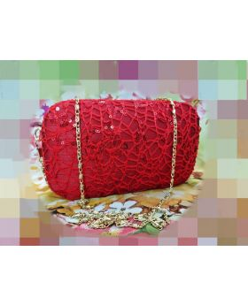 Red Casual clutch