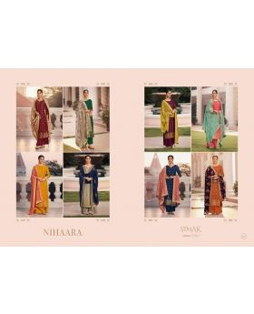NIHAARA BY GLOSSY SIMAR VISCOSE DOLA JACQUARD FUNCTIONAL WEAR HEAVY LOOK SALWAR SUITS
