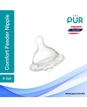 PUR Comfort Feeder Wide Neck Nipple Size S-2pk (1311)