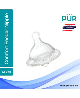 PUR Comfort Feeder Wide Neck Nipple Size M-2pk (1312)
