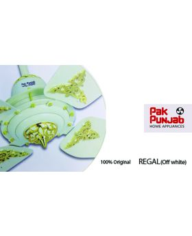 Pak Punjab Victoria Series Ceiling Fan 3 Blade off white Gold