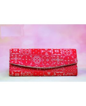 Red Classic Katan Clutch (Volume 2)