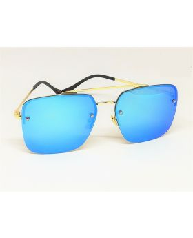Metal-Plastic Black Golden Sunglass for Men