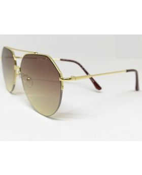 Metal-Plastic Mixed-Color Sunglass for Men