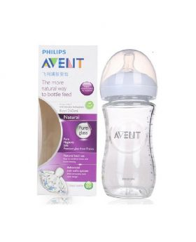 Philips Avent Natural Glass Feeding Bottle 240ml (UK)