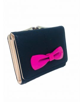 PU leather Square Shaped Black Color Ladies Bag