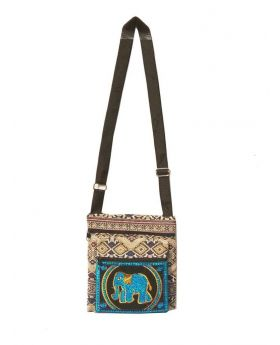 Designed Fiber Square Shaped Colorful Ladies Shoulder Bag