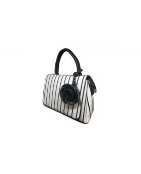 White Artificial Leather Designer Hand Bag for Women