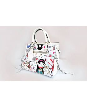 White Color Designer Hand Bag for Women