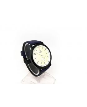 Titan Replica Blue Strap Artificial Leather Metal Working Sub-dial Watch for Men