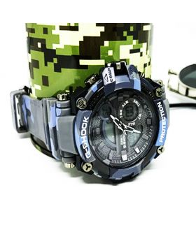 G-Shock Replica Sports Watch Sky blue black camouflage Digital and Analog movement Watch for Men