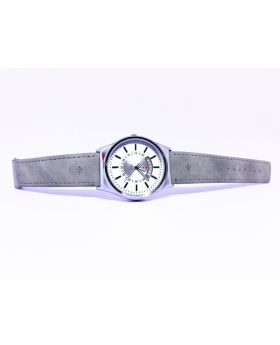 Replica Ash PU Leather Strap White Dial Date Function Watch for Men