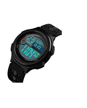 SKMEI Digital Watch Light Alarm Black - Grey Silicon Strap Watch for Men