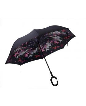Stylish Mixed 3D Printed Inverted Double Layer C-Hook Umbrella