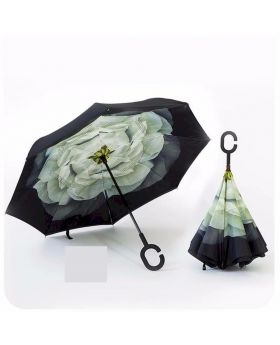Stylish 3D C-Hooked Inverted Umbrella
