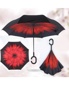 Super Quality 3D C-Hooked Inverted Umbrella - Mixed Color