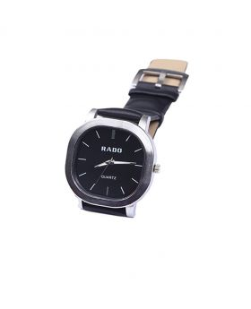 Rado RD02301-0047 Stainless Steel Leather  Belt Analogue Watch For Men