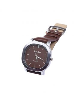 Rado RD02301-0048 Stainless Steel Leather  Belt Analogue Watch For Men