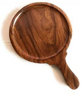 Round Head Wooden Pizza Plate 14 inch