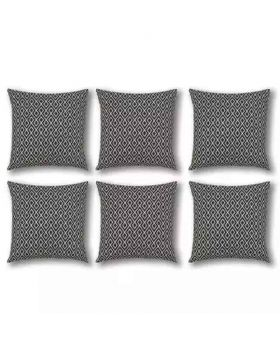 Six Pieces - Black & White-Cushion Cover Set