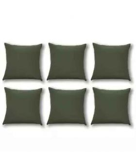 Six Pieces Green Cushion Cover Set
