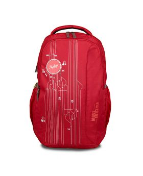 Skybags 33 Ltrs Red Laptop Backpack (BPSPA2RED)