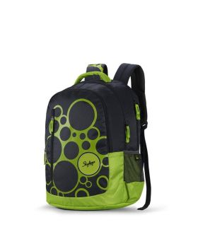 Skybags New Neon Polyester 1850 cm Grey Spacious School Backpack-32 Litres
