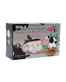 YC 100gm MILK &YOGURT WITH PAPAYA HERBAL SOAP