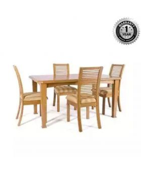Solid Sagun Wood Dining Table With 4 Chair - Lacquer