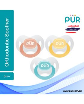 Pur Orthodontic Silicone Soother (3m+) – (14017)