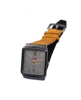 Signature ST02201-0050 Stainless Steel Leather  Belt Analogue Watch For Men