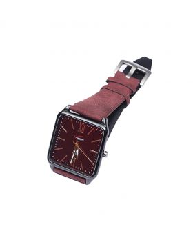 Signature ST02201-0056 Stainless Steel Leather  Belt Analogue Watch For Men