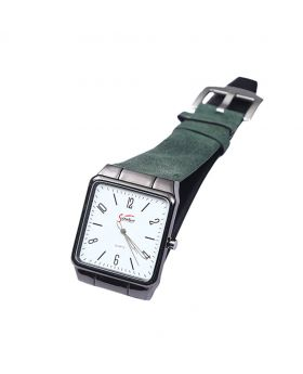 Signature ST02201-0059 Stainless Steel Leather  Belt Analogue Watch For Men