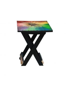 Hand Painted Wooden Folding Table Design No 3