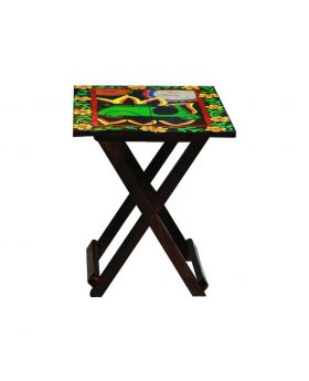 Hand Painted Wooden Folding Table Design No 4