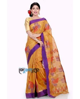 Yellow+Multi Maslice Cotton Saree