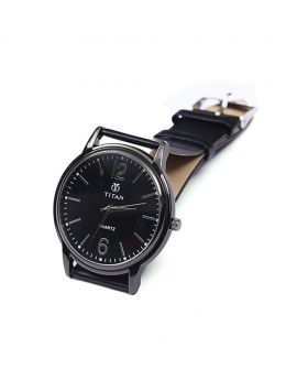 Titan TT02101-0064 Stainless Steel  Leather  Belt Analogue Watch For Men