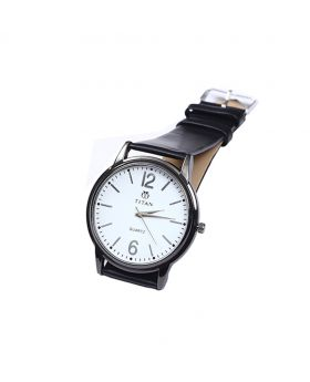 Titan TT02101-0066 Stainless Steel  Leather  Belt Analogue Watch For Men