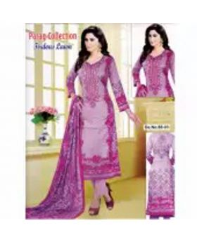 Unstitched Cotton Lawn Three Piece