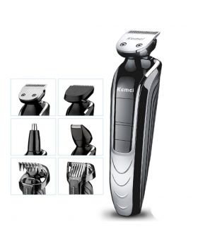 Kemei KM-1832 5 in 1 Waterproof Rechargeable Electric Shaver Cutter Nose Hair Trimmer For Men