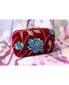 Maoon Velvet Designer clutch