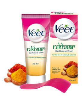 Veet Nikhaar Herbal Hair Removal Cream with Turmeric, Sandal & Saffron 25 gm