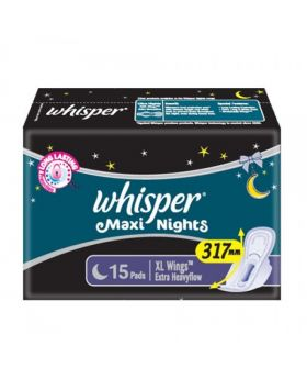 Whisper Maxi Nights XL Wings 15 Pads