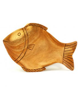 Fish Plate - Large (Burnt Design)