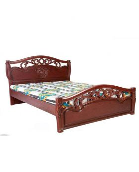 Malaysian Processing Wood Semi Double Bed - chocolate