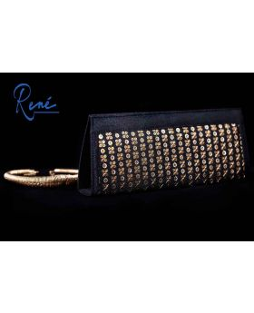 Black Zari clutch